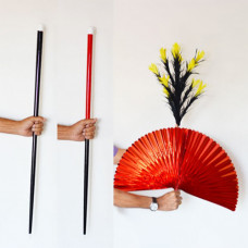 Color Changing Cane to Fan and Flower