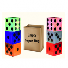 Appearing Dices from Empty Paper Bag(6 Dices)