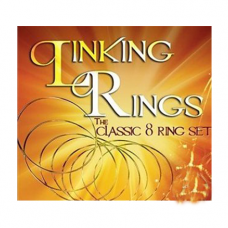 LINKING RINGS - THE CLASSIC 8 RING SET WITH DVD (MEDIUM)