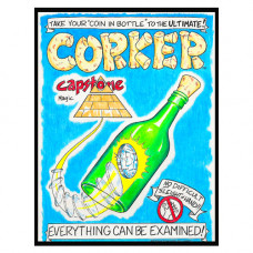 Corker Coin in Bottle by Chris Capstone
