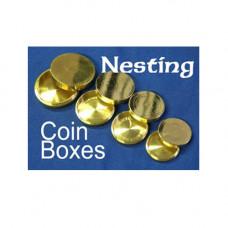 Nesting Coin Box, Brass
