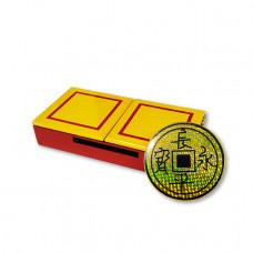 Sucker sliding coin box
