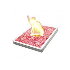 Penetration through the burning coin card