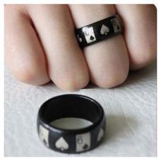 Magnetic black ring,Poker Style