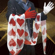 Glove heart streamer