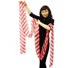 Magic Silk Streamer,red and white
