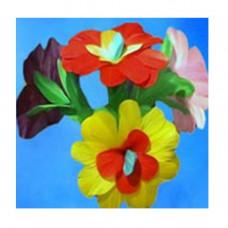 Multicolored bouquet flowers,set