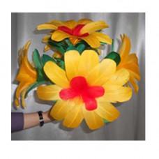 Yellow bouquet flowers,set