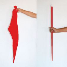 Silk to Cane,red,plastic